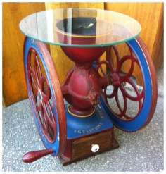 Restored Coffee Mill Table