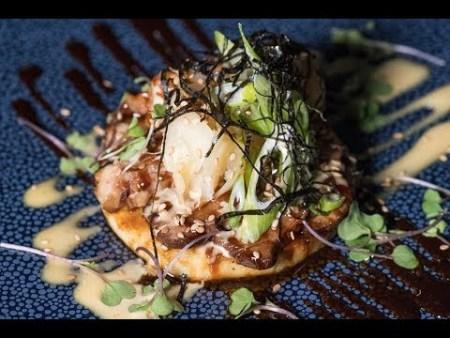 Chef's Challenge – Japanese Okonomiyaki with Marinated Shrimp by Chef Connor McQuay