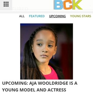 Please congratulate Aja for making it  website. Check out the article at  . Com