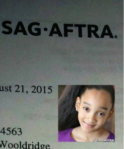 Congrats to Aja for hitting a major milestone in her #acting career. She has officially received her #SAG offer.  #childactress #kidactress #actorslife #actor