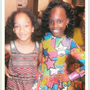 Aja and @mstaylordanielle #jwjfashionshow #jwjdope #dopenerd #jwjdopenerd #FashionShow #childmodel