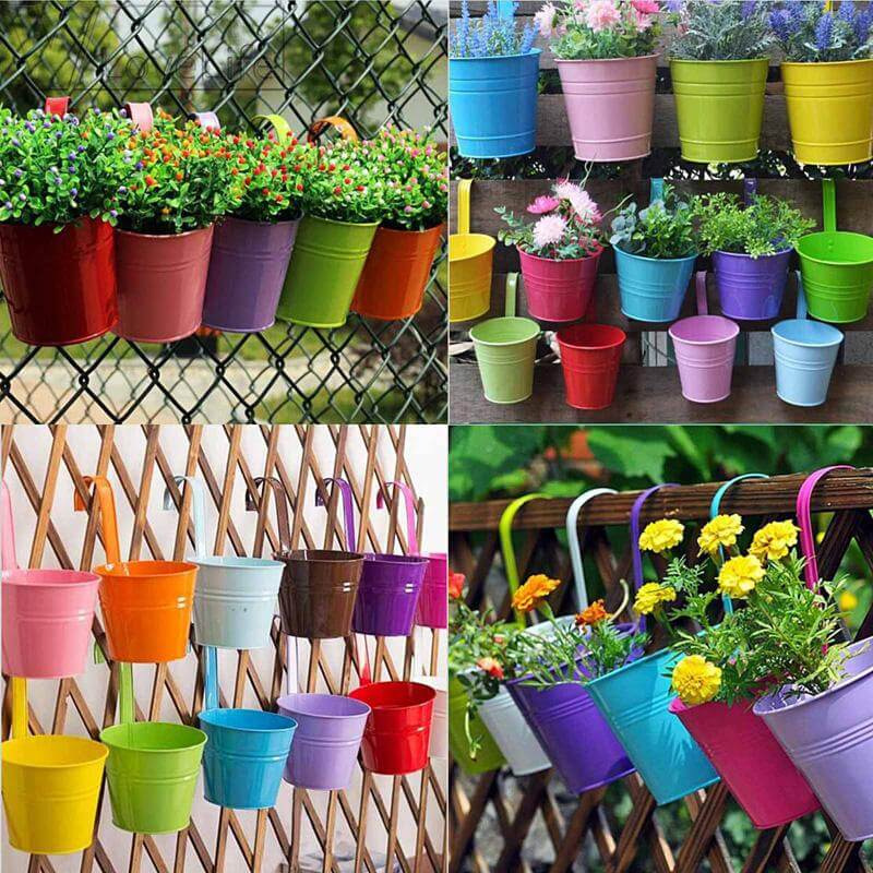 Colorful Pots with Initials
