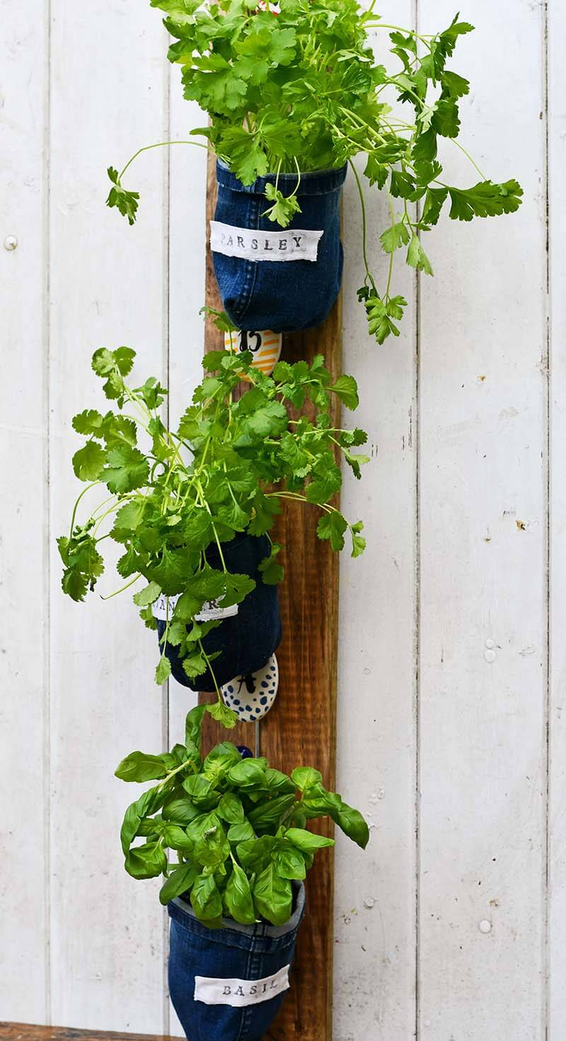 Repurposed Pillar as Flower Pot