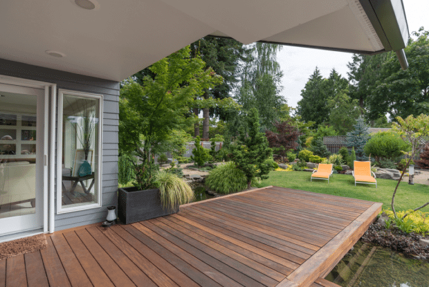 Extend backyard to the side