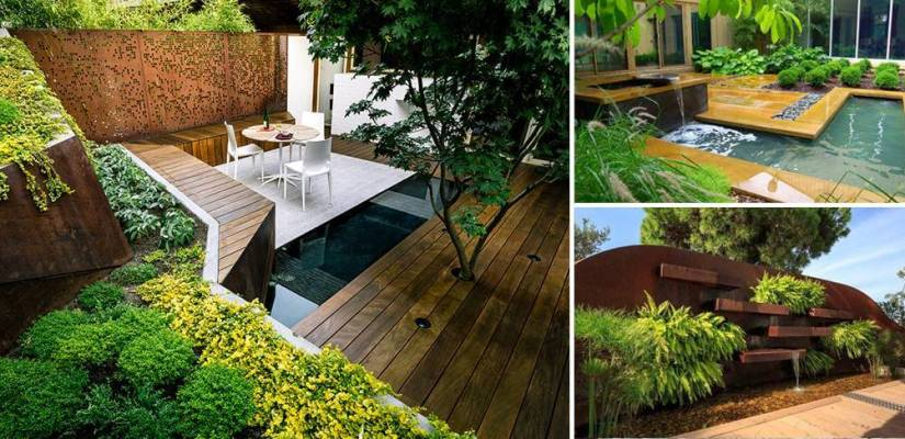 How do you design a small garden?