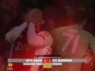 EUROPA LEAGUE Ajax 2-1 Dnipro Kans