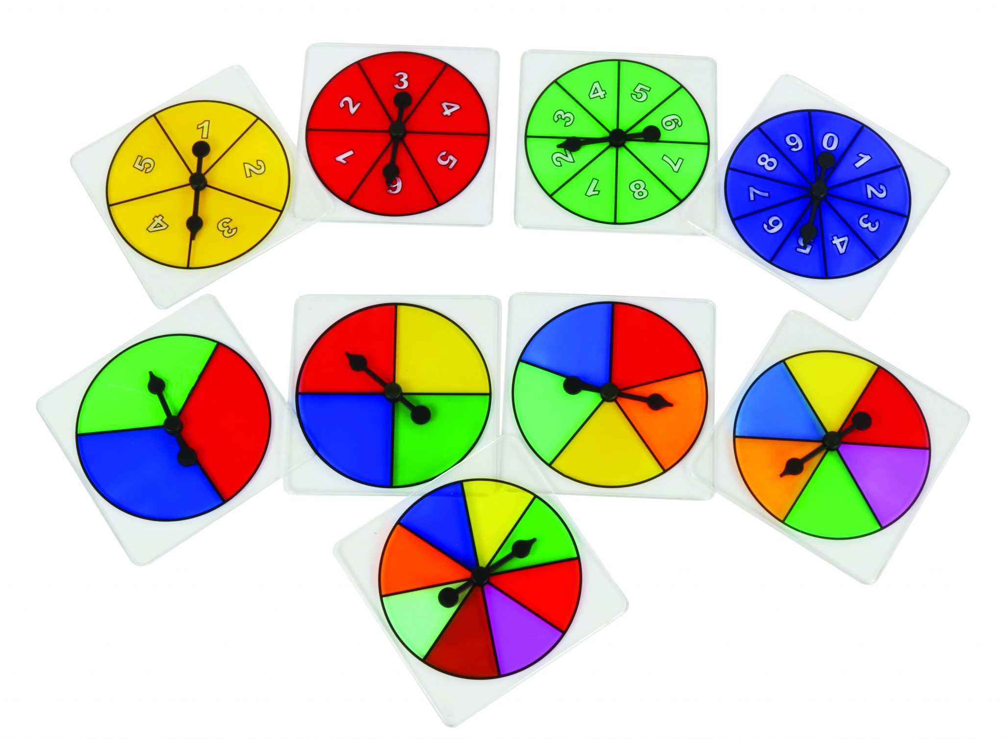 Probability Spinner Set Of 9