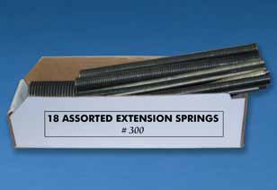 No. 300 extension spring assortment