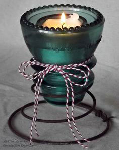 coil spring candle holder