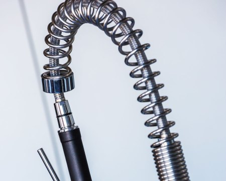 Stainless Steel Spring used on a faucet
