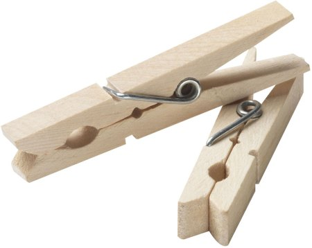 springs in clothespins