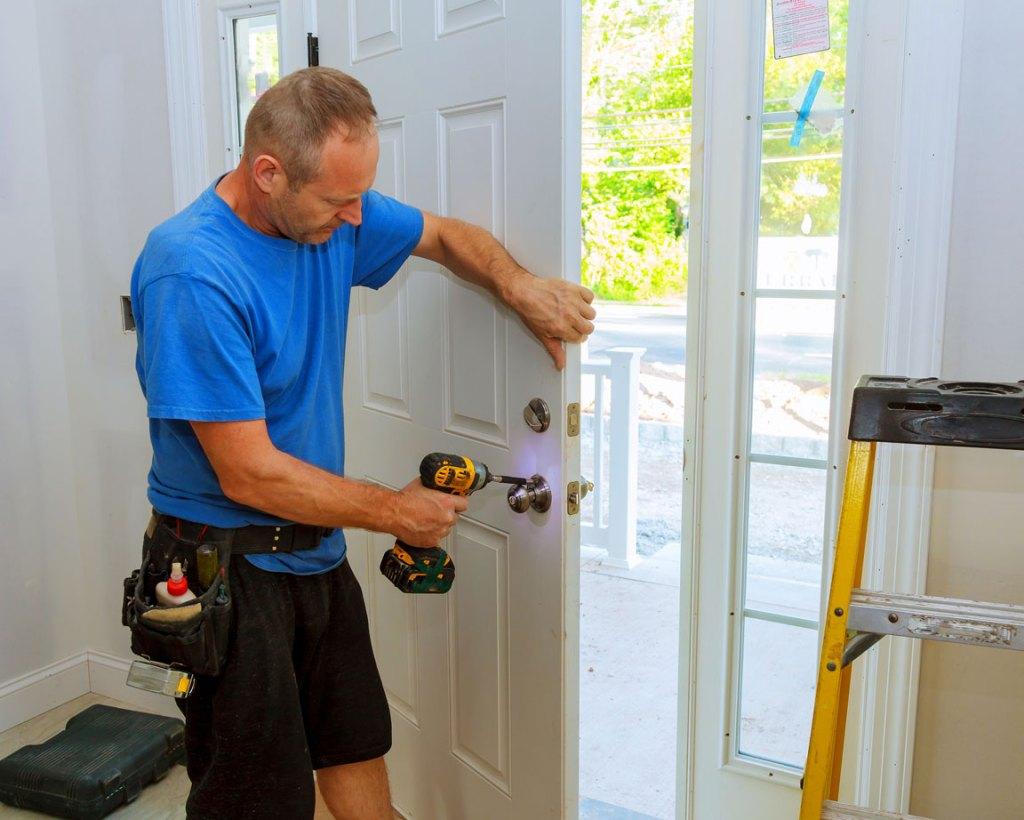 installing brass lock hardware