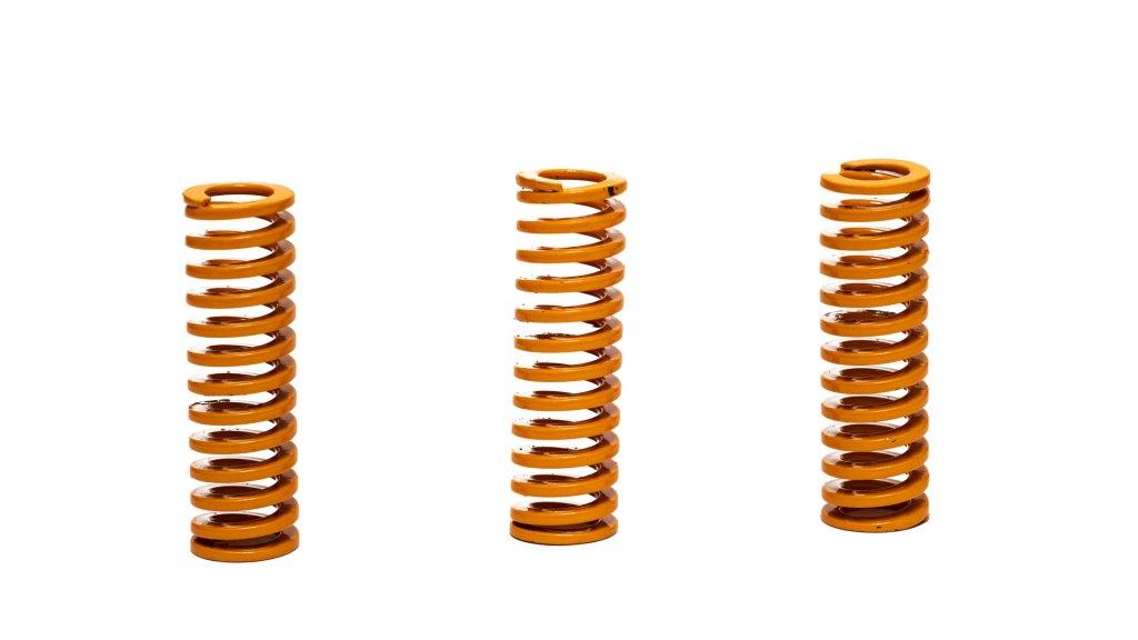 Three brass springs