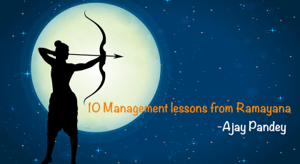 10 Management lessons Ramayana author ajay kumar pandey Nepal