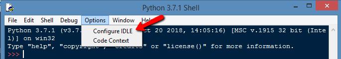 Configure IDLE