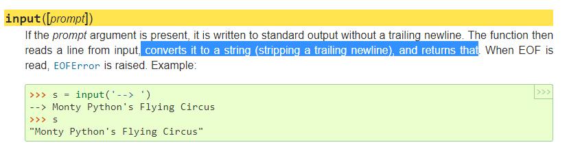 Input  Function Python