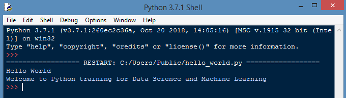 Run Python File on Shell