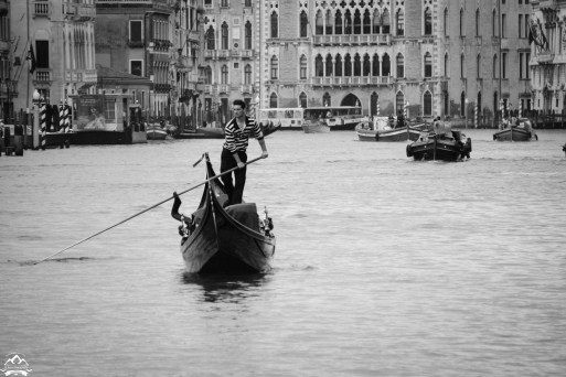 A classic Venetian morning on the Grand Canal