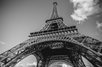 Gustave Eiffel's iconic the tower of iron lattice.