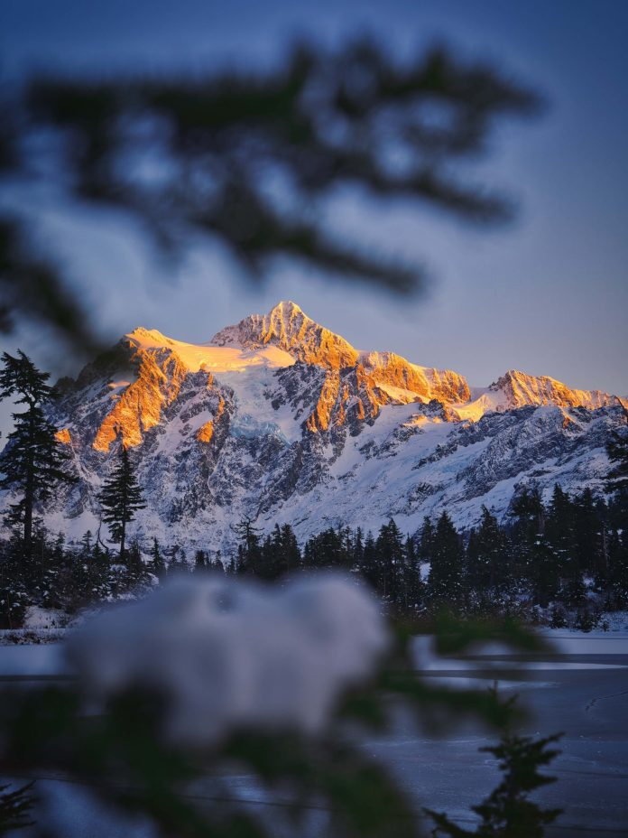 Winter Over Mt. Shuksan