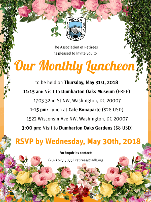 May Luncheon 2018