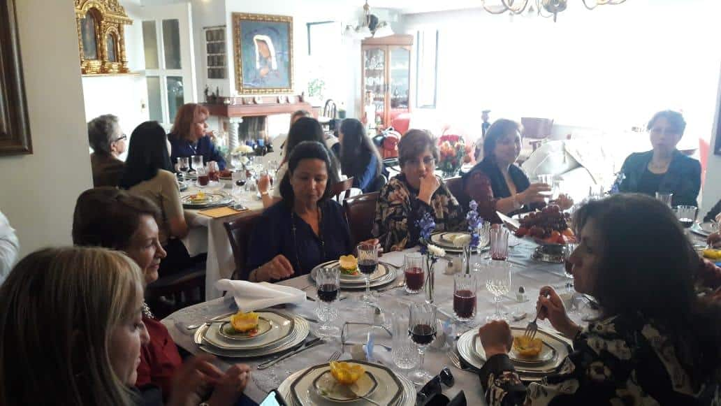Lunch of the IDB Family Association in the Ecuador Chapter