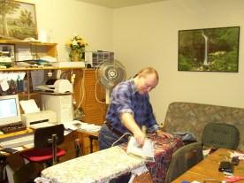 andrew ironing