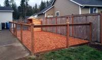 East Olympia Kennel with Cedar Chips - AJB Landscaping & Fence
