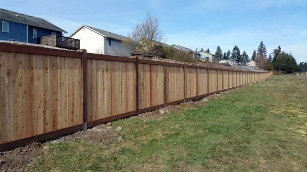 huge fence spanaway housing