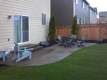 Lacey Exposed Aggregate Concrete Patio Extension - Ajb