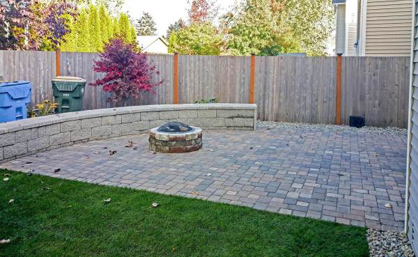 concrete and paver patio installation