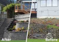 Tiered Retaining Wall on Lake Lawrence Near Yelm