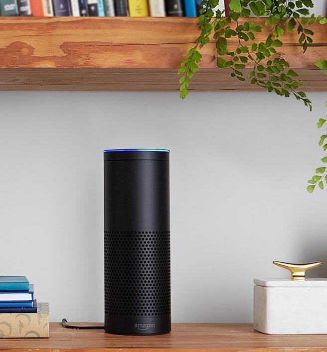 No matter if you get a black or a white Amazon Echo, it will most likely blend well into your existing decor