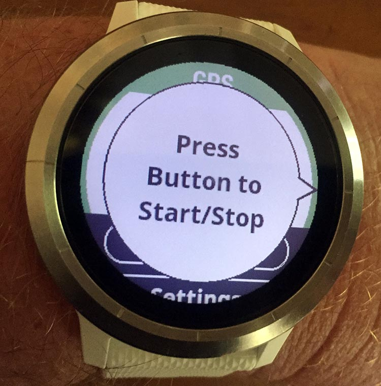 How to Use Your Garmin Vivoactive 3 to Record an Activity. Once it has found the signal, the Garmin watch will prompt you to press the button to start recording your activity