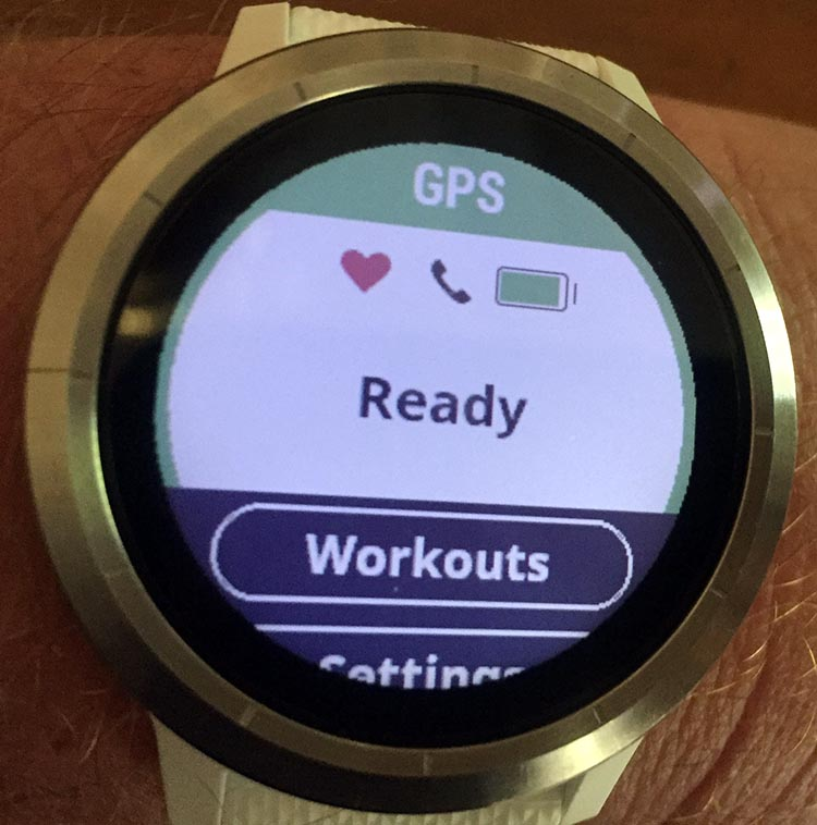 How to Use Your Garmin Vivoactive 3 to record an activity - Once your Garmin Vivoactive 3 finds the signal, it will let you know that it has found it, and so it is ready to record your activity