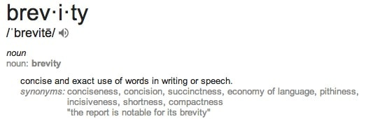 brevity definition