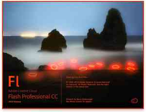 Adobe Flash Professional CC 2015 Release Splash Screen