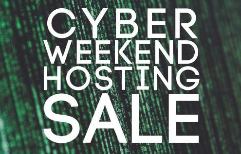 Cyber Weekend Hosting Sale