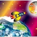 fusee-espace-lune-terre-etoiles-enfants