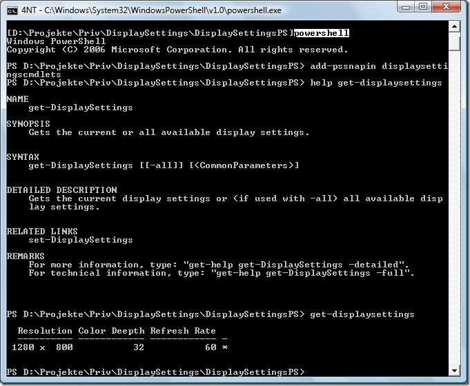 Command line tool vs. PowerShell Cmdlet (2/3)