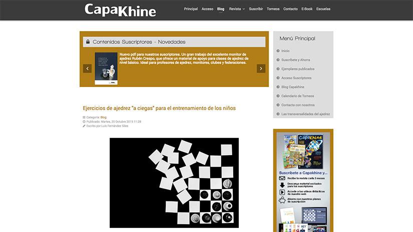 Ajedrez a ciegas para niños - Capakhine