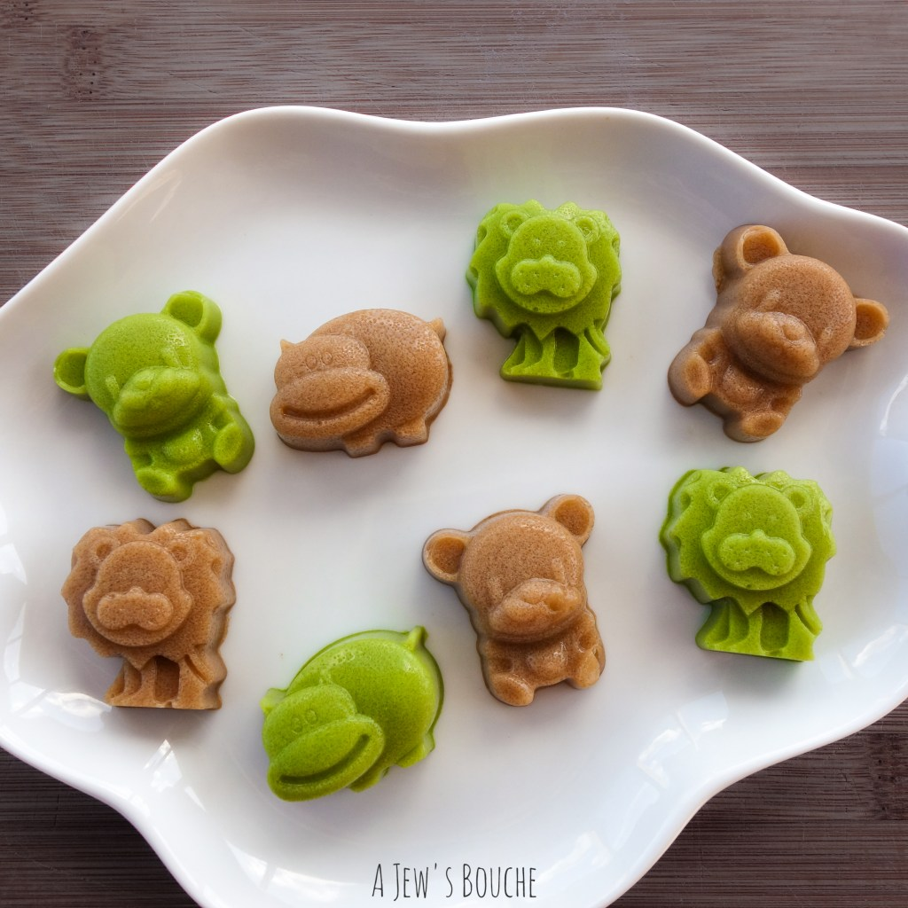 Chai and Matcha Tea Pannacotta Animals