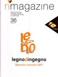 RILEGNO MAGAZINE N.36 2008