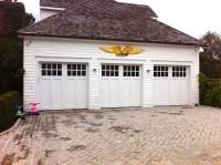 Herringbone T & G cedar, with a cedar overlay | AJ Garage ...