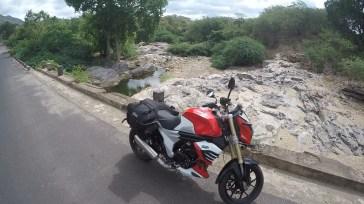 Towards 'Hogenakkal falls' from Palar