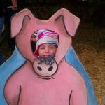 Kaylyn as a piggy