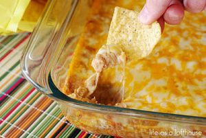 Texas Trash Warm Bean Dip