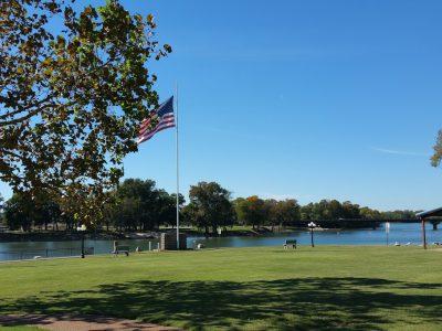 Along river walk Batesville