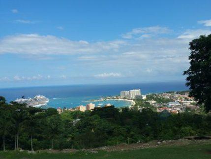 Ocho Rios, Jamaica from hill above
