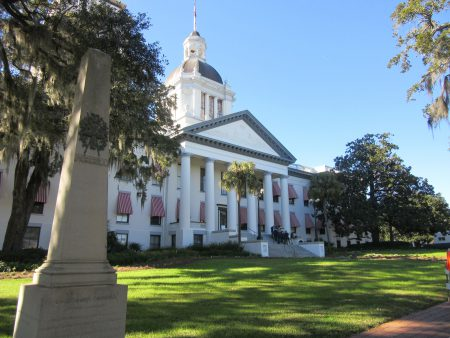 Front of historic capital building of Florida